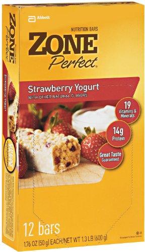 (Zone Perfect Nutrition Bars Strawberry Yogurt 1.76oz 5 Bars (2 Pack))