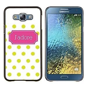 YiPhone /// Prima de resorte delgada de la cubierta del caso de Shell Armor - Modelo de lunar del art déco poster - Samsung Galaxy E7 E700