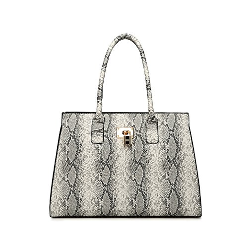 Handwags Yellow Brown Snake Strap Texture Shoulder chiaro For Hand Coolives Grigio Woman Long qIwFznv