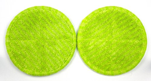 Elicto Electronic Dual Spin Mop and Polisher Replacement Mop Heads (1 Set (Green))