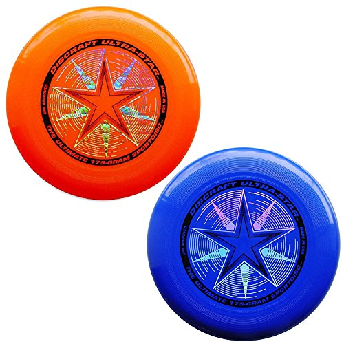 Discraft 175 gram Ultra Star Sport Disc - 2 Pack (Orange & Blue) - Sport All Frisbee