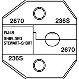 Greenlee 2670 Shielded RJ45 Shielded Stewart Connector, Short Body Die for CrimpALL 8000/1300 Series by Paladin Tools