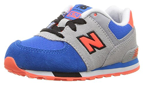 New Balance 574 Cut and Paste, Zapatillas Unisex Niños Multicolor (Grey/blue)