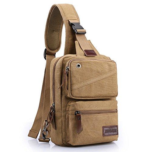 XINCADA Chest Bag Sling Bag Canvas Shoulder Crossbody Backpack Small Messenger Bags for Men and Women