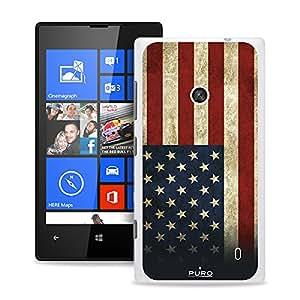 Puro NK520USA con Protector de pantalla para Nokia Lumia 520/525-usa de la bandera de