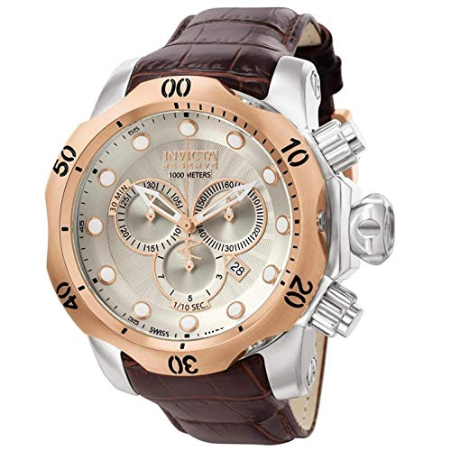Invicta Men s 0359 Reserve Collection Venom Chronograph Brown Leather Watch