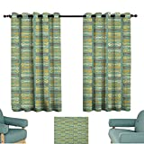 """WinfreyDecor Vintage Kids Room Curtains Retro Funky Sunglasses Collection Old Fashioned Accessories Grunge Looking Pattern Darkening and Thermal Insulating 63"""" Wx45 L Multicolor"""