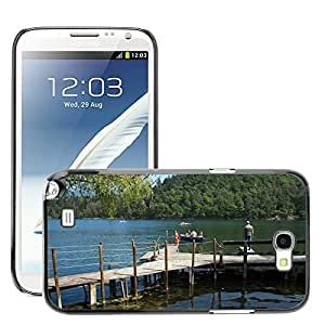 Hot Style Cell Phone PC Hard Case Cover // M00308778 Mountain Lake Timber Jetty Reflections // Samsung Galaxy Note 2 II N7100