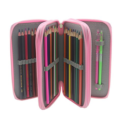 Pshine Large 48 Slots Colored Pencil holder- Pencil Case-Pen
