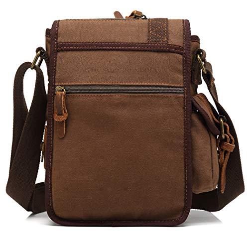 Bageek Coffee tracolla tracolla Borse per con Canvas borse a uomo Vintage in da tessuto I6xqOw