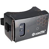 Arcade Horizon Casque de Réalité Virtuelle en Carton avec Bouton de Contrôle/Sangle de Tête pour Smartphones Noir