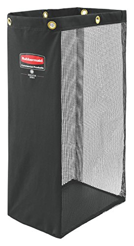 (Rubbermaid Commercial Executive Series Side-Load Mesh Bag, Black 1966889)