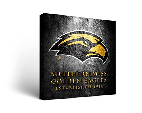Victory Tailgate Southern Mississippi Golden Eagles USM Canvas Wall Art Museum Design (18x24)