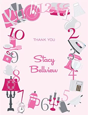 noteworthy collections clock icons bridal shower thank you cards around the clock icons pink pack