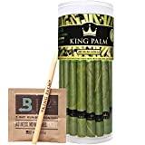 King Palm Leaf Wraps  Enjoy hand-rolled natural leaves for those looking for the best slow burning natural leaf on the planet. King Palm Natural Leaf rolls are individually hand rolled. The leaves are made of a resistant subtance that promotes slow ...
