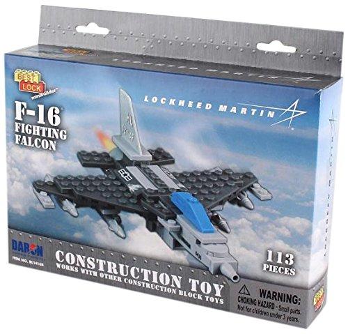 Daron F-16 Best Lock Construction Toy (113 Piece)