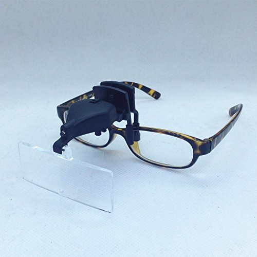 3 Lens Clip-on 1.5X 2.5X 3.5X 3D Reading LED Lights Magni...