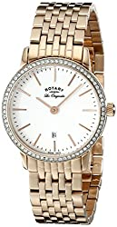 Rotary Women's lb90054/02 Rose Gold-Tone Stainless Steel Watch