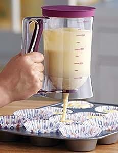 Dispensador de masa de crepes–Cupcakes crepes galleta gofres para tarta magdalenas para hornear masa dispensador de crema Speratator taza de medir hornear herramientas para tartas–Pancake dispensador