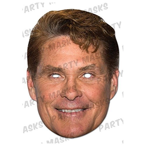 David Hasselhoff Cardboard Celebrity Party Mask - David Hasselhoff Fancy Dress Costume