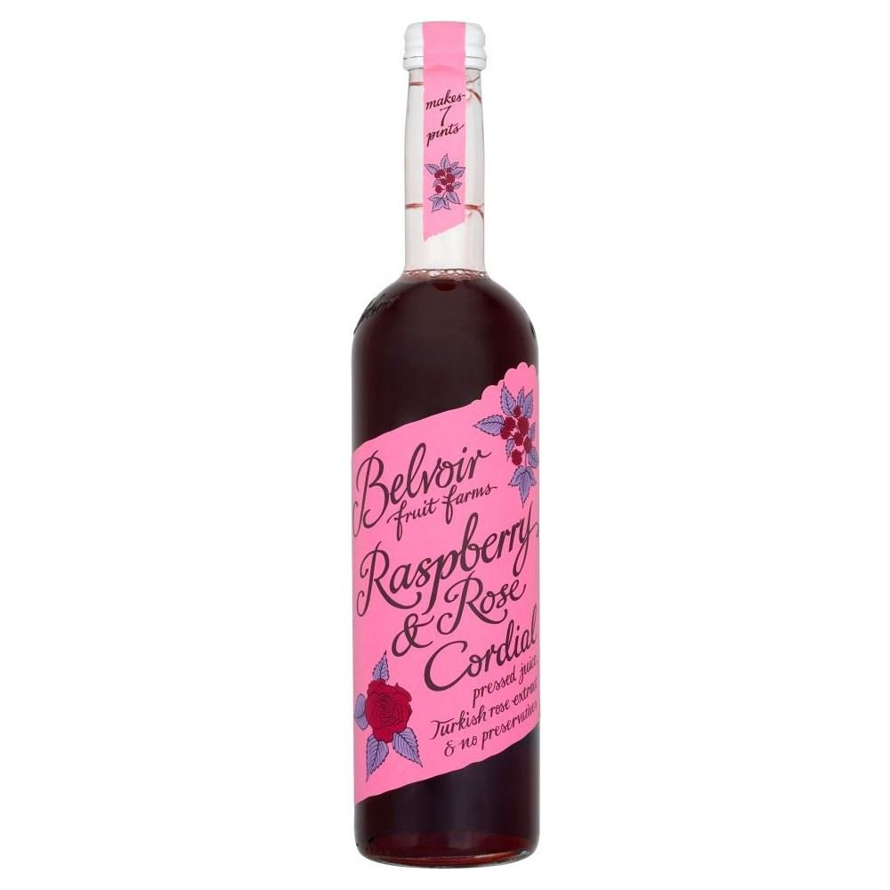 Belvoir Fruit Farms Cordial Raspberry & Rose (500ml) - Pack of 6 by Belvoir (Image #1)
