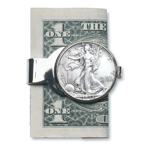 Religious Money Clips (American Coin Treasures Silver Walking Liberty Half Dollar Silvertone Coin Money Clip)