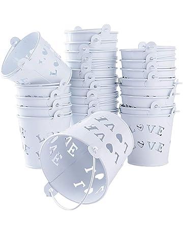 24pcs Mini Cubos Metal Cajas Invitados de Boda Fiesta Bautizo Cumpleaños Detalles Dulces Caramelos Regalos Decoración