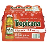 Tropicana Apple Juice, 15.2-Ounce Bottles (Pack of 12)
