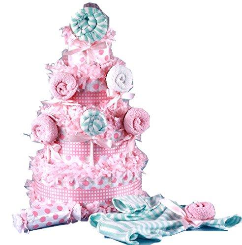 Tasty as a Lollipop Diaper Cake Baby Girl Gift