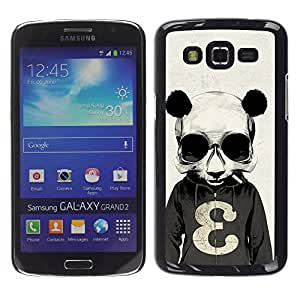 - Panda Cute Bear Animal - - Hard Plastic Protective Aluminum Back Case Skin Cover FOR Samsung GALAXY Grand 2 g7106 g7108v g7109 Queen Pattern