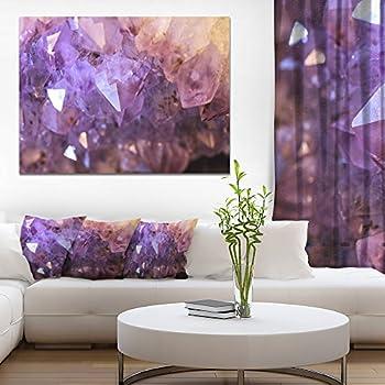 Designart Purple White Natural Amethyst Geode Canvas Artwork