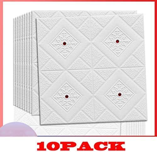 3d壁紙シート 自己粘着3D三次元の壁のステッカーのテレビの背景の壁紙肥厚リビングルームのベッドルームウォールステッカー(10個入り) 3d壁紙天井 (Color : B)