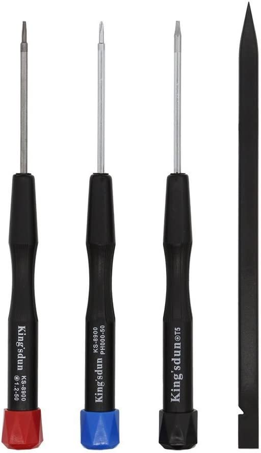 Kingsdun 4pcs MacBook Repair Tool Kit Precision Pentalobe Screwdriver Set P5,Torx Driver T5,Philips PH000 for Apple MacBook Air & MacBook pro with Retina Display