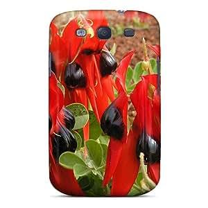 New Style Tpu S3 Protective Case Cover/ Galaxy Case - Sturt's Desert Pea