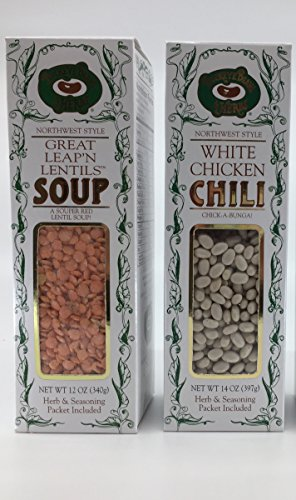 Buckeye Beans & Herbs Soup and Chili Variety of 3: Great Leap'n Lentil, Country Split Pea Soup and White Chicken Chili –12-14-14 Ounces Each (3 Items) ()