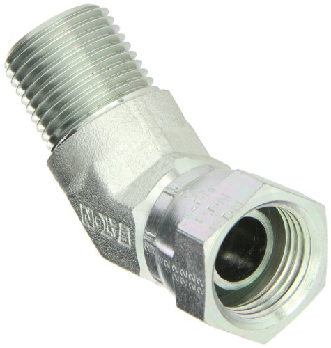 45 Degree Female Swivel - Eaton Aeroquip 2049-8-8S Steel Pipe Fitting, 45 Degree Elbow, 1/2