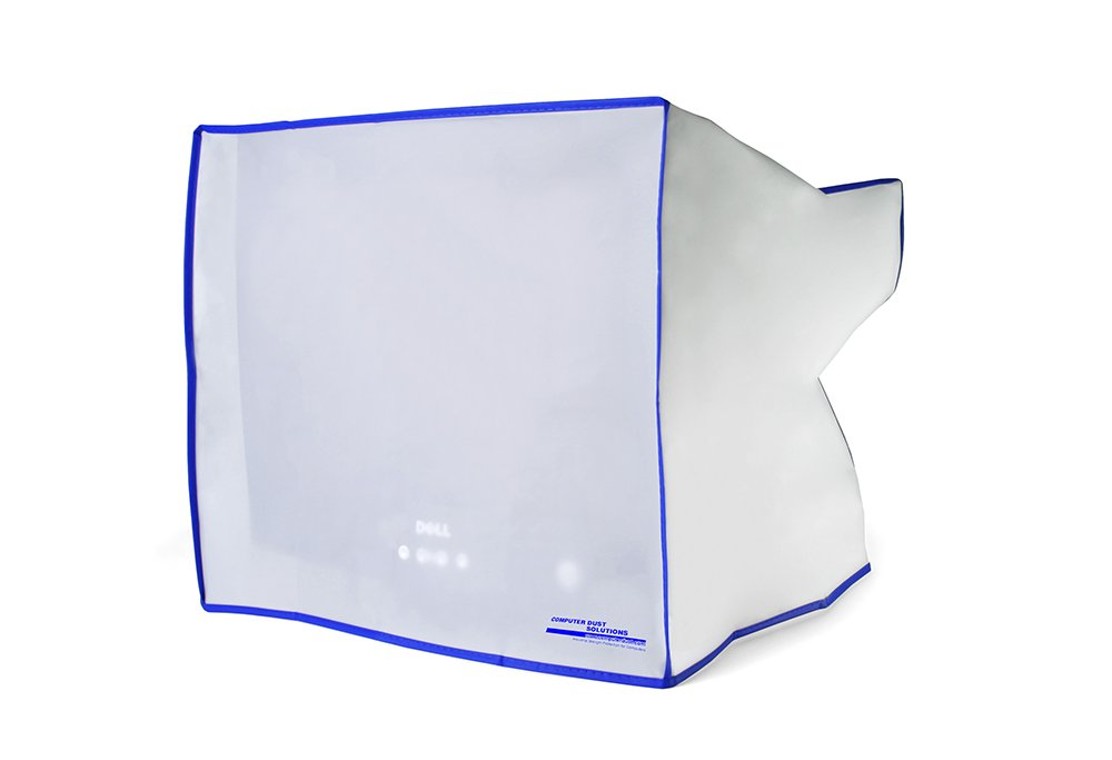 Dust and water resistant silky smooth antistatic vinyl CRT Monitor Dust Cover for 19/21'' CRT monitor (21W x20H x23D)
