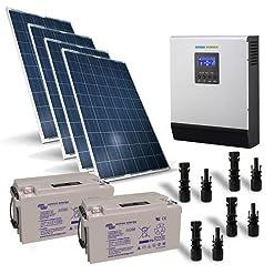Kit solare baita 1kW 24V Pro pannello regolatore inverter batteria 90Ah