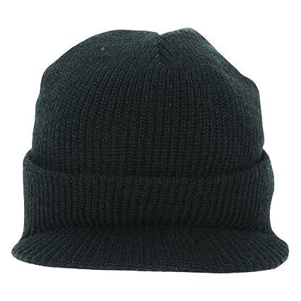 528aaa63 Amazon.com : Fox Outdoor Products GI Wool Jeep Cap, Black : Sports ...