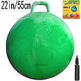 Space Hopper Ball with Air Pump: 22in/55cm Diameter for Ages 10-12, Hop Ball, Kangaroo Bouncer, Hoppity Hopping Ball