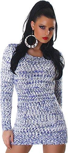 JELA London - Vestido - Básico - Manga Larga - para mujer azul marino