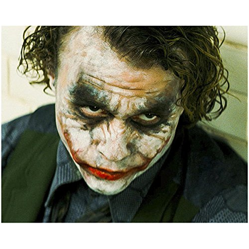 Batman: The Dark Knight Heath Ledger is The Joker Close Up with Smeared Make-up 8 x 10 -