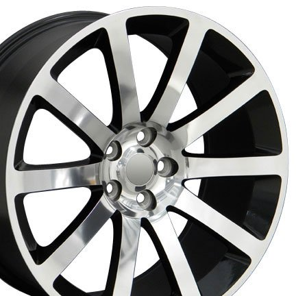 - OE Wheels 20 Inch Fits Chrysler 300 Challenger SRT8 Charger SRT8 Magnum 300 SRT Style CL02 20x9 Rims Polished with Black Pockets SET