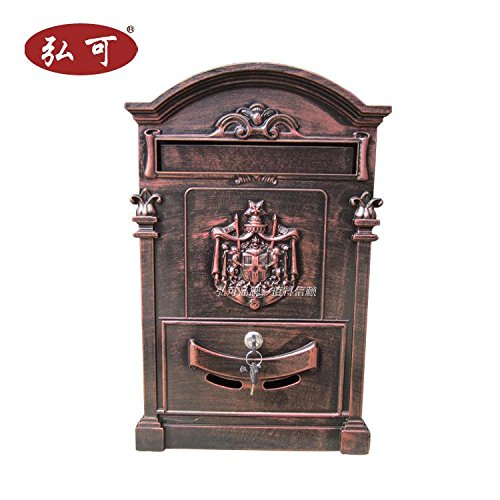 - Italy Style Aristocratic Mailboxes Cast Aluminum Mail Boxes (02 Red Antique Bronze)