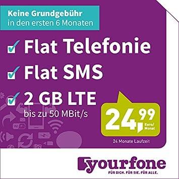Yourfone Lte M 24 Monate Laufzeit O2 Netz Amazonde Elektronik
