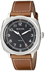 Bulova Men's 96B230 Military Analog Display Japanese Quartz Brown Watch