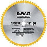 DEWALT DW3126 Series 20 12-Inch 60 Tooth ATB Thin Kerf Crosscutting Miter Saw Blade with 1-Inch Arbor