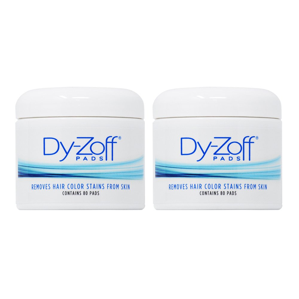 King Research Dy-Zoff Pads Removes Hair Color Stains From Skin 80 Pads (Pack of 2)