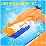 Addmos Water Gun Up to 10m Away Super Water Pistol Soaker Blaster 1.2L Tank Double Power Up Outdoor Water Fighting Toy for Kids Adults