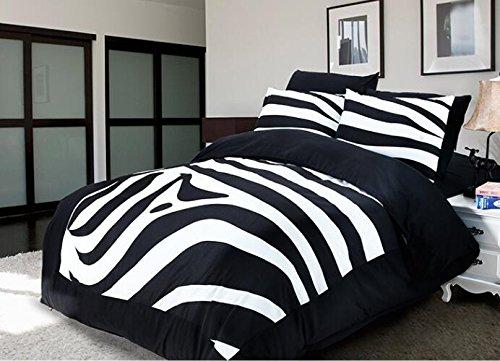 Best to Buy Soft Luxury Youth 100% Polyester zebra design Fully Reversible 3-Piece Modern Flower Skull Comforter Set, Full /KING/ Queen/ Single Size, (King) (Zebra Polyester Comforter)